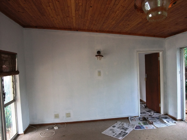Painting the TV room white