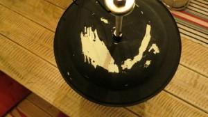Blackboard paint on enamel does not work