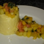 Mango Panna Cotta with Tropical Salsa