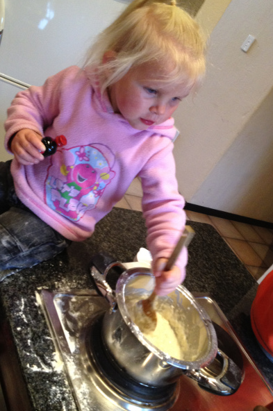 Playdough - stirring