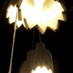 Elsbeth Eksteen - wooden protea lamps