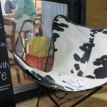 Cow leather love chair - I Feel