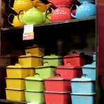 Let your guests do a double take on this 'enamel' ware - Red Hill Pottery
