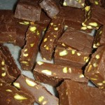 Chocolate Pistachio Fudge - Ready to Eat