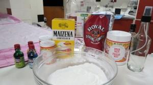 Homemade Bath fizzie ingredients