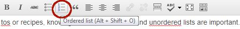 Ordered list button
