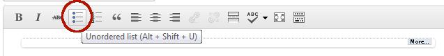 Unordered list button
