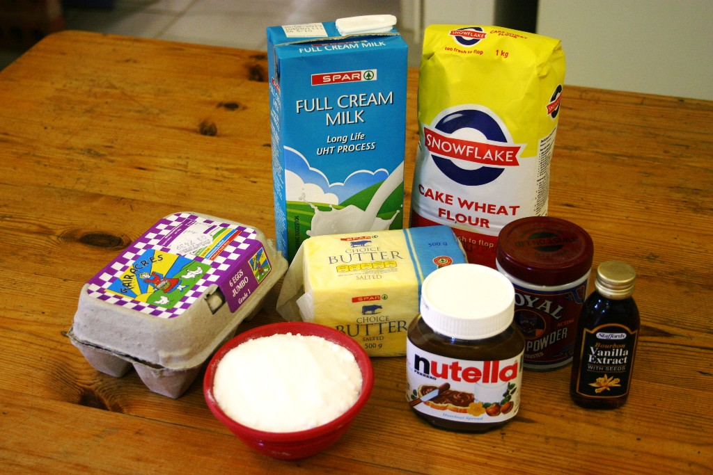 Nutella Butter Cake Ingredients
