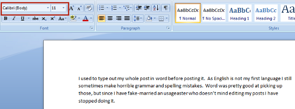 The Word Document