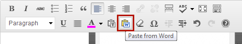 Paste from Word button