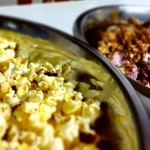 Bacon and maple syrup popcorn, rocky road popcorn