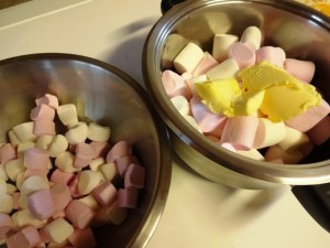 Marshmallows divided