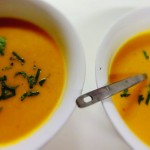 Spicy Sweet potato and pumpkin soup