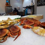 Fresh fish and crabs