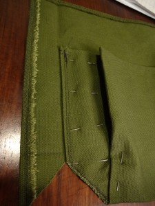 Sew the pocket onto the back panel
