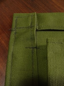 I did some back and forth sewing on the seams that will be under stress.