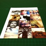 All the images on one page with a small margin between them to make the cutting easier.