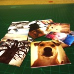 All the images cut to size and ready to be pasted.