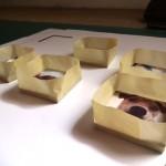 Use masking tape to create glazing 'dam walls'