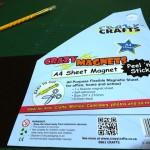 I found some sheet magnets at Jimnette's.