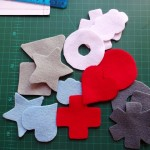 Cut out the felt shapes