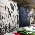 Wild Rhubarb scatter pillows