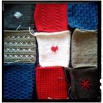 Yarn Bomb square knitting