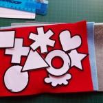 Trace paper shapes onto felt