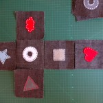 Arrange your squares in a cross shape.