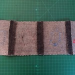 Sew the seams and then press them flat.